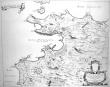 [POUZZOLES] Puteolanus ager. Le golfe de Pouzol et une partie du golfe de Naples elle est vers la ville de Pouzol, & les ruines des Baies.. BLAEU ...