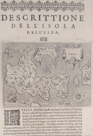 [ELBE] Descrittione dell'isola dell'Elba.. PORCACCHI (Tommaso);