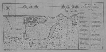 [MADRAS] Plan de Madras et du fort St Georges pris par les François le 21 septembre 1746.. BELLIN (Jacques-Nicolas);