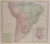 Kaart van het onderkoningschap van Peru, ... Chili, Paraguay ... Brazil ... in Zuid-Amerika.. TIRION (Isaak).