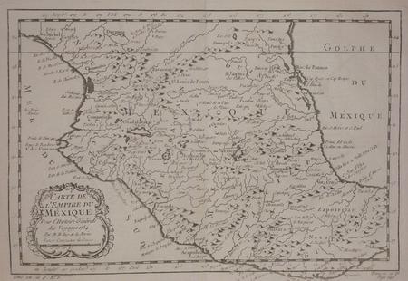[MEXIQUE] Carte de l'empire du Mexique.. BELLIN (Jacques-Nicolas);