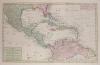 Kaart van de onderkoningschappen van Mexico en Nieuw Granada in de Spaansche West-Indien.. TIRION (Isaak);