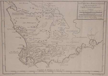 [AFRIQUE DU SUD] Le pays des Hottentots aux environs du Cap de Bonne Espérance.. BELLIN (Jacques-Nicolas);