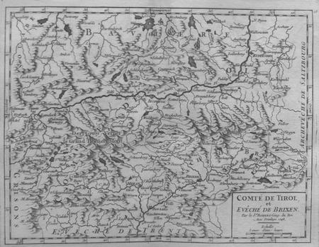 [TYROL] Comté de Tirol et évêché de Brixen.. ROBERT de VAUGONDY (Didier);