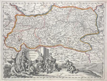 Archiducatus Austriae tabula.. PFEFFEL (Johannes Andreas);
