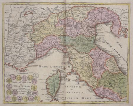 [ITALIE DU NORD] Gallia Cisalpina et Italia propria.. WEIGEL (Christoph);