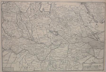 [MANTOUE] Les duchez de Mantoue et de la Mirandole avec la plus grande partie des territoire de Verone, Brescia et de Cremone.. FER (Nicolas de);
