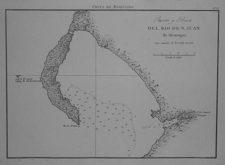 [NICARAGUA] Costa de Mosquitos - Puerto y boca del rio de S. Juan de Nicaragua.. DIRECCION de HIDROGRAFIA;