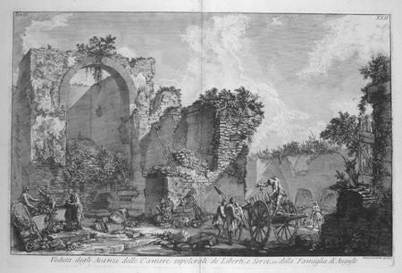 [ROME] Veduta degli avanzi delle camere sepolcrali dei liberti, e servi, ec. della famiglia di Augusto.. PIRANESI (Giovanni Battista);