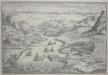 [DARDANELLES] Veue des Dardanelles de Constantinople.. FER (Nicolas de);