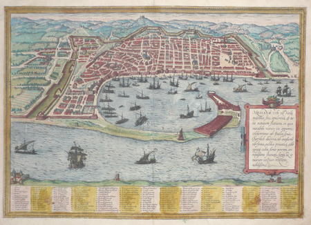 [MESSINE] Messana urbs est Sicilie maxima.. BRAUN (Georg);HOGENBERG (Frans);