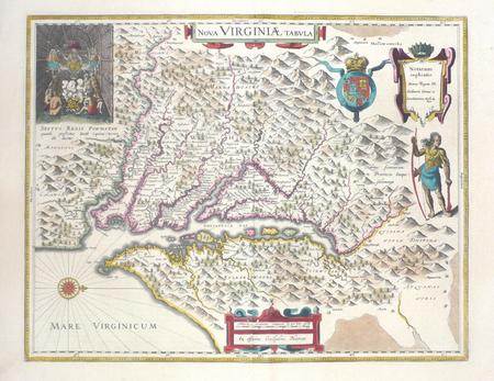 [VIRGINIE] Nova Virginiae tabula.. BLAEU (Johannes);
