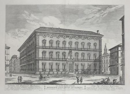 [ROME] Veduta del Palazzo Madama.. BARBAULT (Jean);