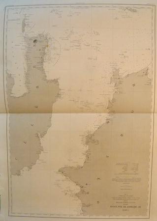 [INDONESIE] Carte du détroit de Macassar.. DEPOT des CARTES et PLANS de la MARINE.