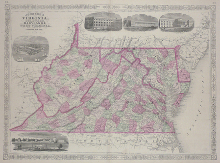 Virginia, Delaware, Maryland & West Virginia.. JOHNSON (Alvin Jewett);