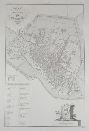 [FERRARA] Pianta della città di Ferrara.. ZUCCAGNI ORLANDINI (Attilio);
