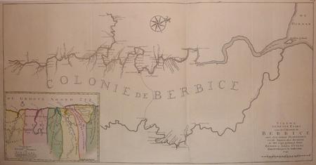 [GUYANE BRITANNIQUE] Nieuwe gemeten kaart van de colonie de Berbice met der zelver plantagien en de namen der bezitters in het ligt gebragt.. OTTENS ...