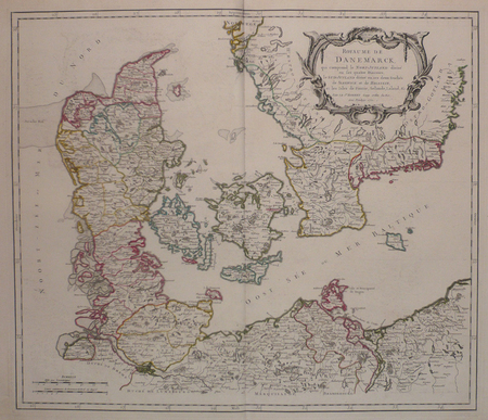 [DANEMARK] Royaume de Danemarck, qui comprend le Nort-Jutland divisé en ses quatre diocèses, le Sud-Jutland divisé en ses deux duchés de Sleswick et ...