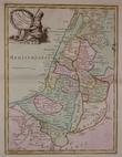 La Palestine ou la Terre Sainte divisée en dix tribus.. LE ROUGE (Georges-Louis);