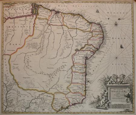 [BRESIL] Nova et accurata Brasiliae totius tabula.. BLAEU (Johannes);