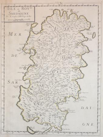 [SARDAIGNE] Isle et royme de Sardaigne.. SANSON d'ABBEVILLE (Nicolas);