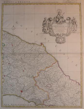 [TOSCANE/ETATS DE L'EGLISE] Estats de l'Eglise et de Toscane.. SANSON d'ABBEVILLE (Nicolas) & COVENS et MORTIER.