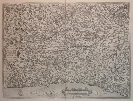 [PIEMONT] Pedemontanae vicinorumque regionum auctore Iacobo Castaldo descrip.. ORTELIUS (Abraham);