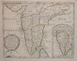 Presqu'isle de l'Inde deça le Gange où sont les royaumes de Decan, de Golconde, de Bisnagar, et le Malabar.. SANSON d'ABBEVILLE (Nicolas);