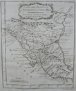 [NICARAGUA/COSTA RICA] Carte des provinces de Nicaragua et Costa Rica.. BELLIN (Jacques-Nicolas);
