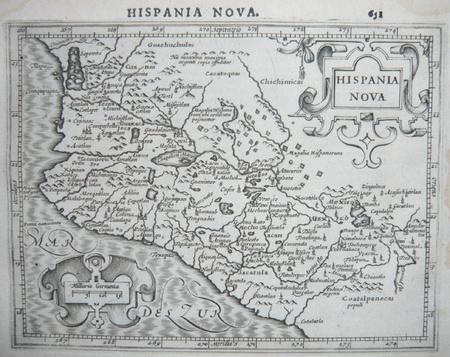 [MEXIQUE] Hispania Nova.. MERCATOR (Gerard);HONDIUS (Jodocus);