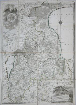 [ESTONIE] Der Dörptsche Kreis - Le cercle de Dörpt.. MELLIN (Graf Ludwig August von).
