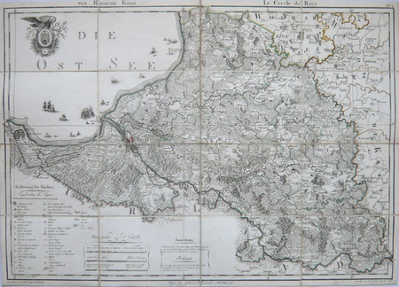 [LETTONIE] Der Rigische Kreis - Le cercle de Riga.. MELLIN (Graf Ludwig August von);.