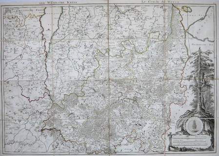 [ESTONIE] Der Werroshe Kreis - Le cercle de Werro.. MELLIN (Graf Ludwig August von).
