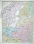 Carte de l'Europe orientale comprenant la Russie d'Europe, l'empire ottoman et la Grèce.. ANDRIVEAU-GOUJON (Eugène);