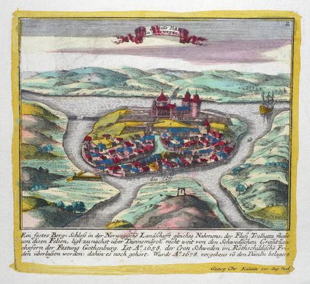 [NORVEGE] Schloss Bahus in Norwegen.. KILIAN (Georg Christophe);