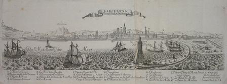 [BARCELONE] Barcelona die haupt Statt in Catalonien.. STRIDBECK (Johann);