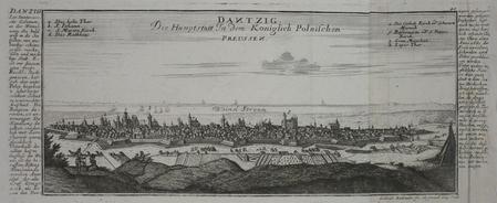 [GDANSK] Dantzig, die Haupstatt in dem Koniglich Polnischen Preussen.. BODENEHR (Gabriel);