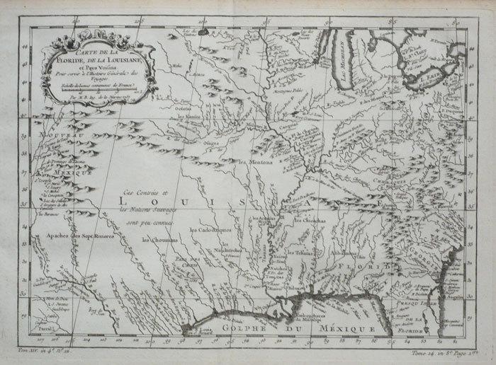 Carte de la Floride, de la Louisiane, et pays voisins.. BELLIN (Jacques-Nicolas);
