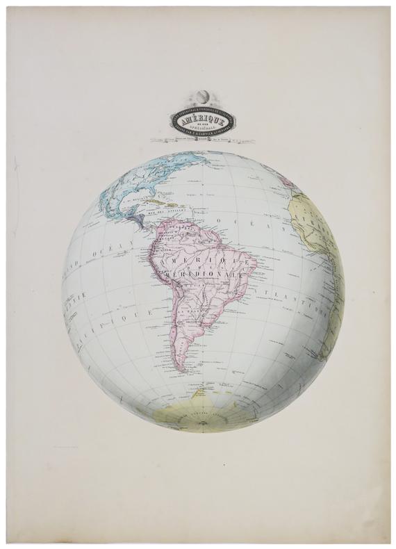 Amérique du Sud sphéroïdale.. GARNIER (F.A.).