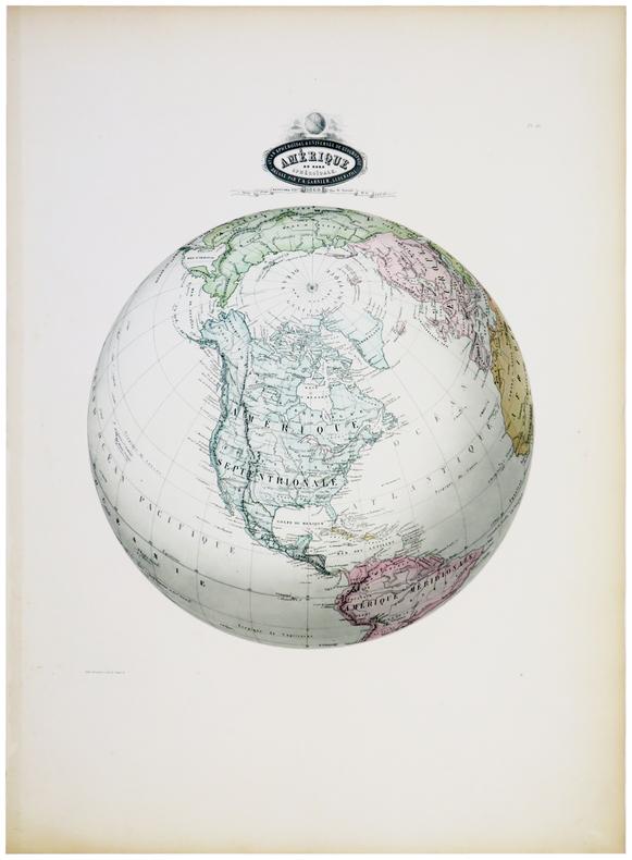 Amérique du Nord sphéroïdale.. GARNIER (F.A.).