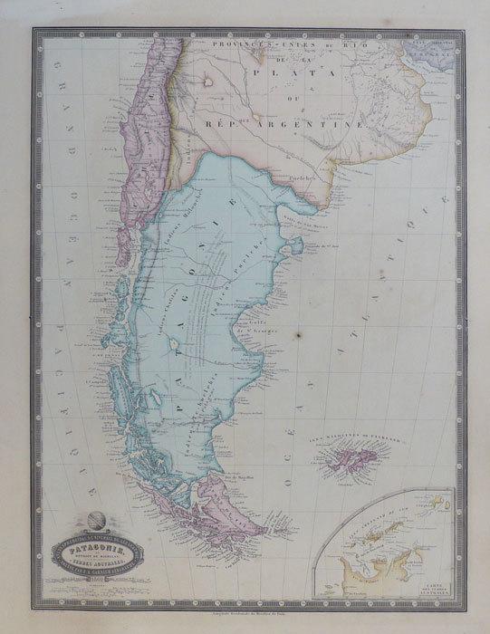 Patagonie, et détroit de Magellan. Terres australes.. GARNIER (F.A.);