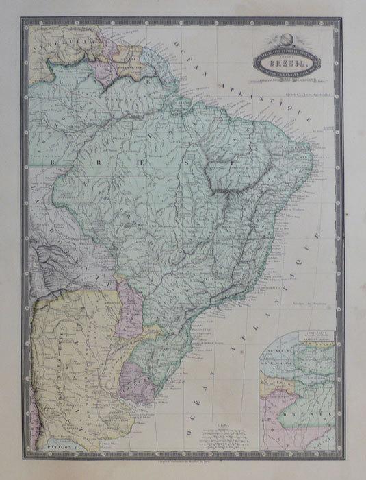 Empire du Brésil divisé en 20 provinces.. GARNIER (F.A.);