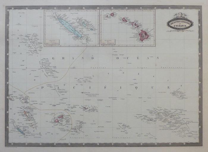 Les divers archipels de l'Océanie.. GARNIER (F.A.);