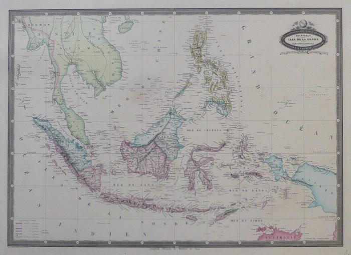 Archipels des îles de la Sonde et des îles Philippines.. GARNIER (F.A.);