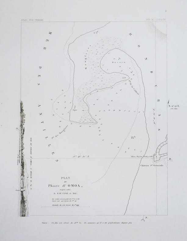 [HONDURAS] Plan du phare d'Omoa, d'après celui de M. de Candé, de 1841.. COULIER (Philippe-Jacques);