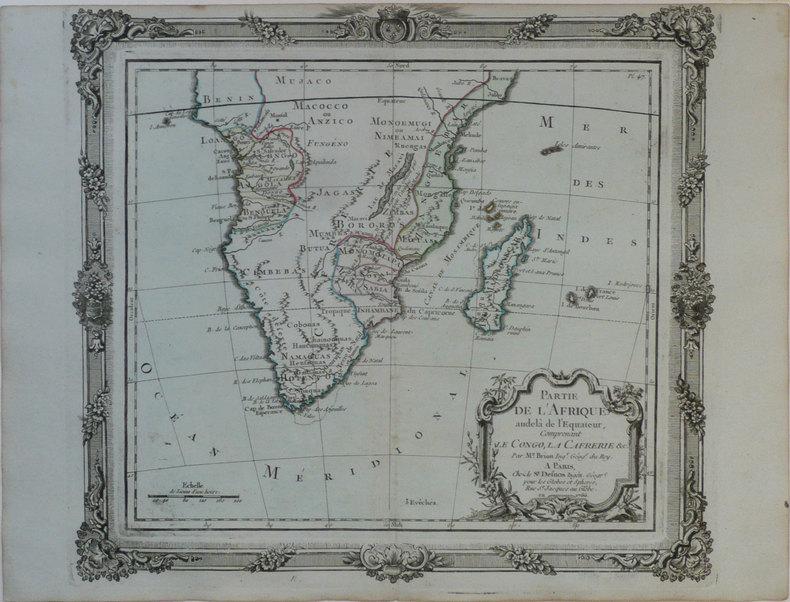 Partie de l'Afrique audelà de l'équateur, comprenant le Congo, la Cafrérie &c.. BRION de la TOUR (Louis);