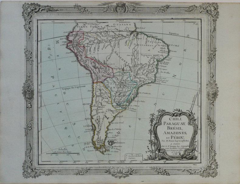 Chili, Paraguay, Brésil, Amazones, et Pérou.. BRION de la TOUR (Louis);