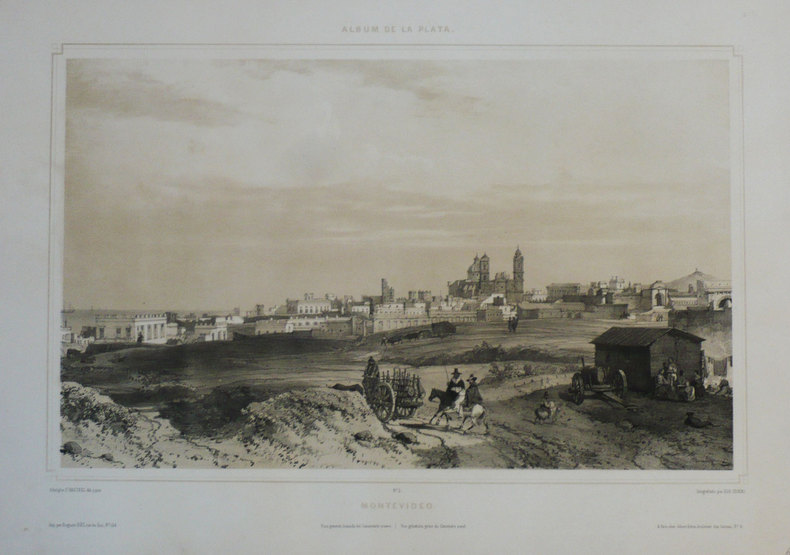 [URUGUAY] Montevideo. Vista general, tomada del cimenterio nuevo - Vue générale, prise du cimetière neuf.. HASTREL (Adolphe d');