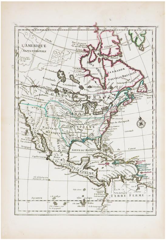 L'Amérique septentrionale.. LE ROUGE (Georges-Louis).