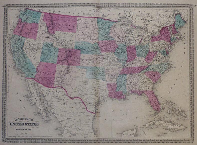 Johnson's United States.. JOHNSON (Alvin Jewett);